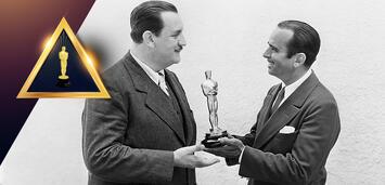Bild zu:  Joseph Farnham erhält 1929 den Oscar von Douglas Fairbanks