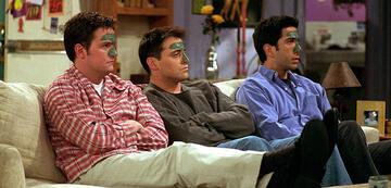 Matthew Perry, Matt LeBlanc und David Schwimmer in Friends