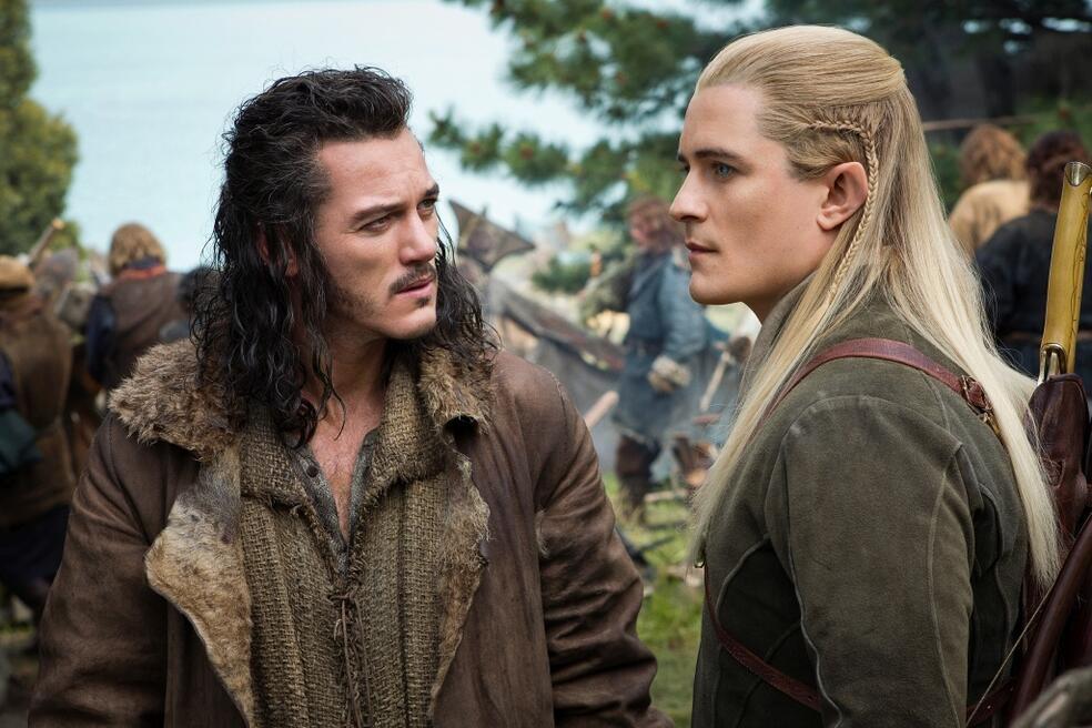 Der Hobbit 3: Die Schlacht der Fünf Heere mit Orlando Bloom und Luke Evans
