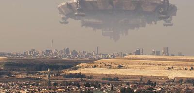 Aliens über Johannesburg in District 9