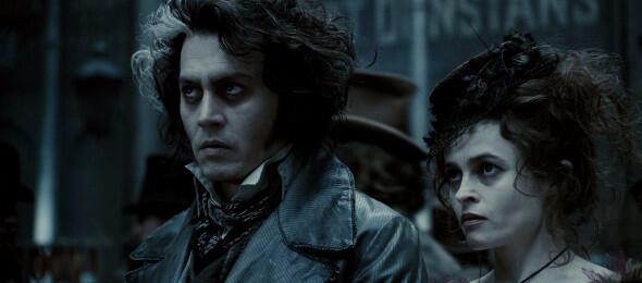 Johnny Depp und Helena Bonham Carter in Sweeney Todd
