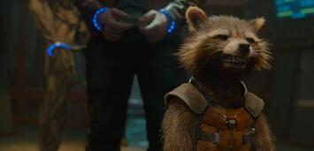 Bild zu:  Rocket Racoon freut sich über die Kinocharts