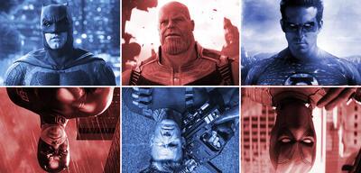 Wechselnde Marvel und DC-Darsteller im Kino