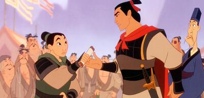 Mulan und Li Shang im Disney-Zeichetrickfilm