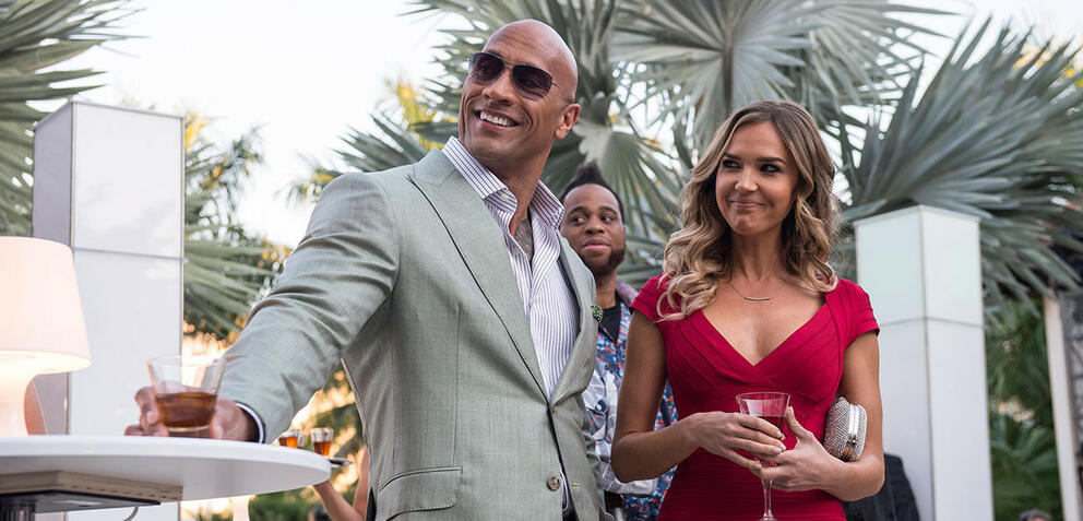 The Rock (l.) in Ballers