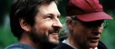 Lars von Trier am Set von Dancer in the Dark (rechts Kameramann Robby Muller)