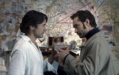 Zwei Männer, zwei geniale Stimmen: Jude Law und Robert Downey Jr.