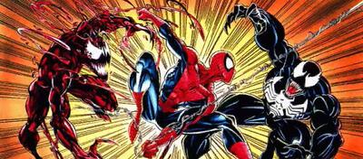 Carnage, Spider-Man und Venom