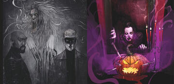 Zwei Beispiele für den Stil der Graphic Novel October Faction