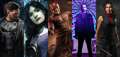Punisher, Jessica Jones, Daredevil, Kilgrave und Elektra