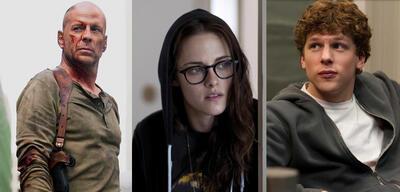 Bruce Willis, Kristen Stewart, Jesse Eisenberg