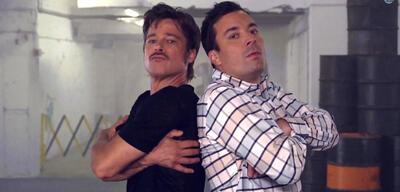 Brad Pitt und Jimmy Fallon