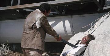 Erschöpft, aber noch nicht geschlagen: Bond und Franz Sanchez.