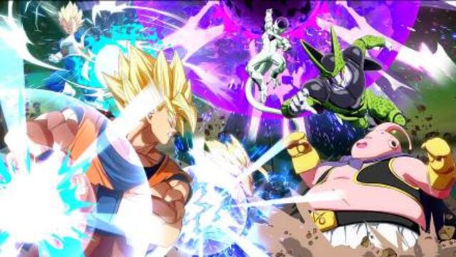 Son-Goku, Son-Gohan und Vegeta vs. Freezer, Cell und Majin Boo