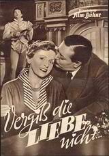 Vergiß die Liebe nicht - Poster