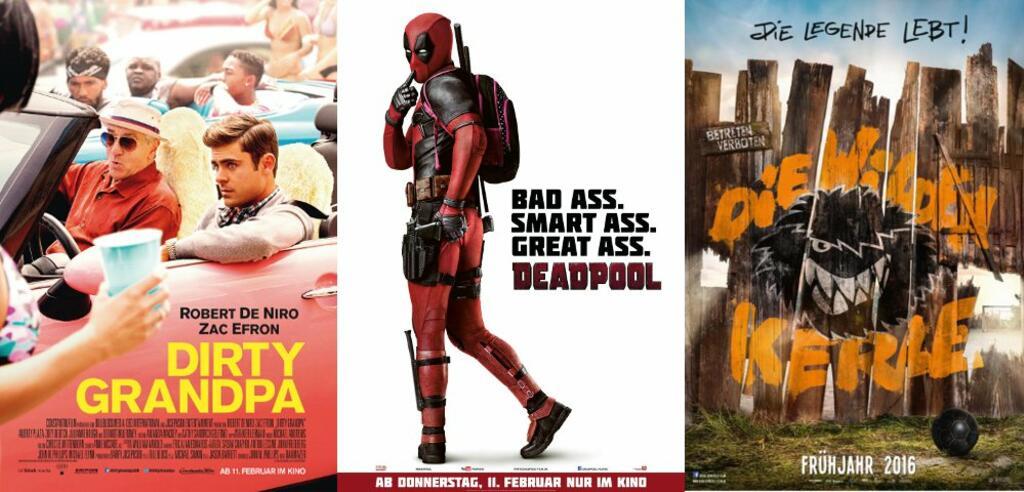 Dirty Grandpa, Deadpool & Die wilden Kerle - Die Legende lebt