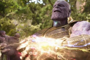 Thanos mit Gauntlet in Infinity War
