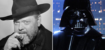 Orson Welles in The Other Side of the Wind/Darth Vader