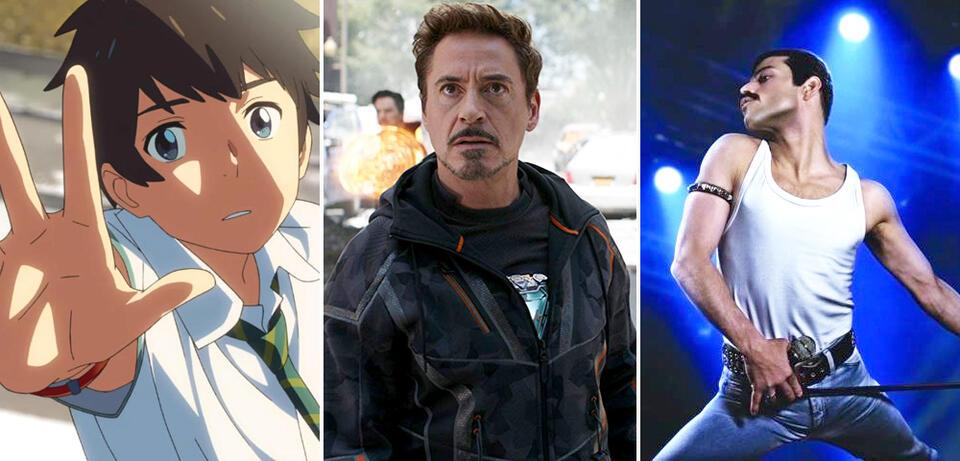 Your Name. - Gestern, heute und für immer, Avengers 3: Infinity War, Bohemian Rhapsody