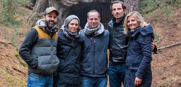 Kernteam  (v.l.n.r.): Baran Bo Odar, Jantje Friese, Eric Barmack, Quirin Berg, Justyna Muesch