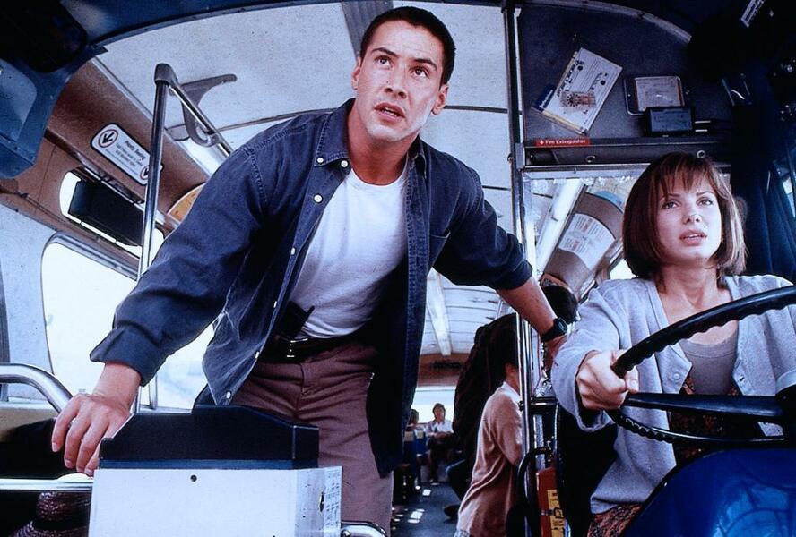 Speed mit Keanu Reeves und Sandra Bullock