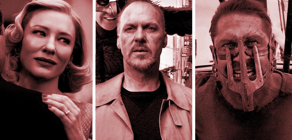 Carol, Birdman, Mad Max: Fury Road