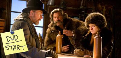 Ab jetzt auf DVD und Blu-ray: Tim Roth, Kurt Russell und Jennifer Jason Leigh in The Hateful 8