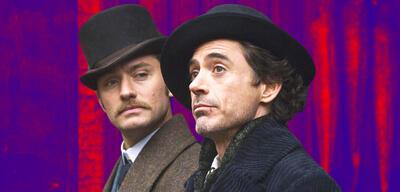 Jude Law und Robert Downey Jr. in Sherlock Holmes