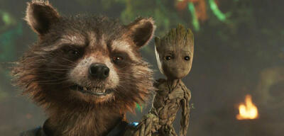 Raccoon und Baby Groot in Guardians of the Galaxy 2