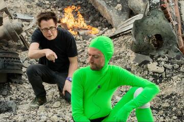 James Gunn (li.) am Set von Guardians of the Galaxy