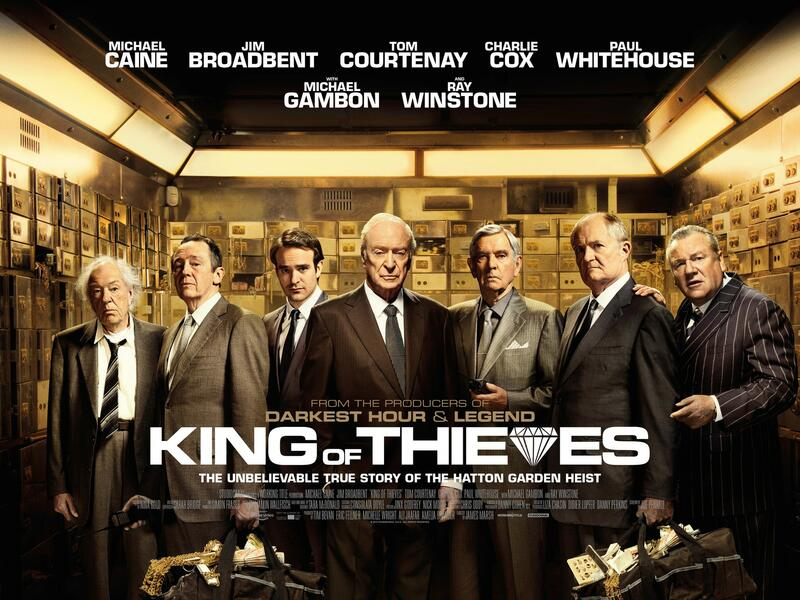 The King of Thieves mit Jim Broadbent, Charlie Cox, Ray Winstone, Tom Courtenay und Paul Whitehouse