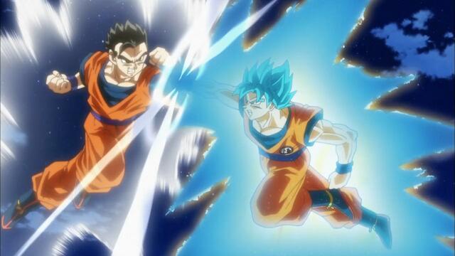 Gohan kämpft gegen seinen Vater