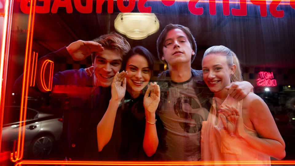 Archie, Veronica, Jughead und Betty (von links)