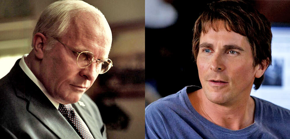 Christian Bale in Vice und The Big Short