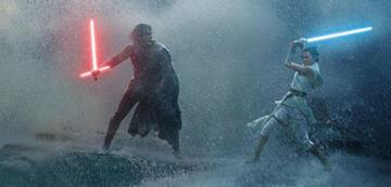 Kylo Ren und Rey in Star Wars 9: Der Aufstieg Skywalkers