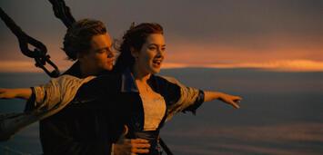 Bild zu:  Leo DiCaprio und Kate Winslet in Titanic