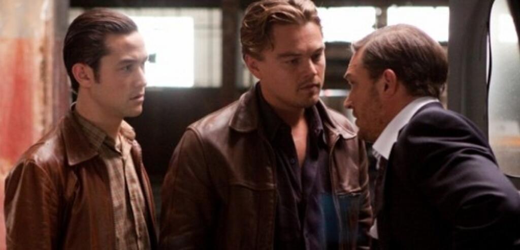 Joseph Gordon-Levitt, Leonardo DiCaprio und Tom Hardy in Inception