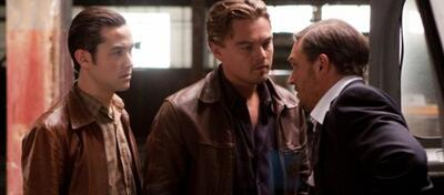 Joseph Gordon-Levitt, Leonardo DiCaprio und Tom Hardy in Inception