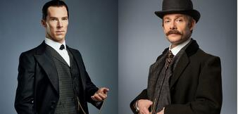 Benedict Cumberbatch und Martin Freeman in The Abominable Bride