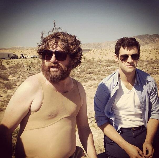 Hangover 3 mit Zach Galifianakis und Justin Bartha