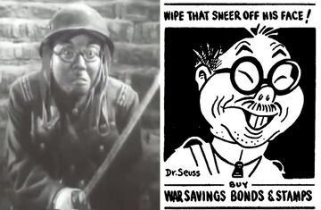 Tunnel War & eine Karikatur von Dr. Seuss aus dem Zweiten Weltkrieg