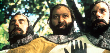 Terry Jones mit Graham Chapman und Michael Palin in Die Ritter der Kokosnuss
