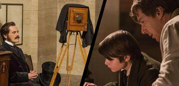 Michael Shannon (links) spielt Westinghouse, Benedict Cumberbatch ist Thomas Edison