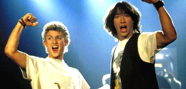 Alex Winter undKeanu Reeves und als Bill & Ted