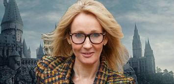 Bild zu:  J.K. Rowling beim Dreh zu Phantastische Tierwesen/Hogwarts in Harry Potter
