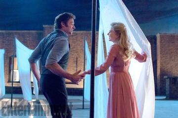 Hugh Jackmann und Michelle Williams im Musical