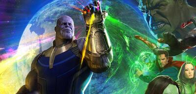 Avengers: Infinity War - Symbolbild: Disney mit seinen Startterminen am Handschuh