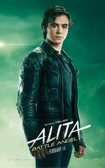 Alita: Battle Angel mit Keean Johnson