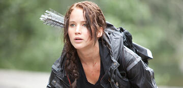 Jennifer Lawrence als Katniss Everdeen in The Hunger Games