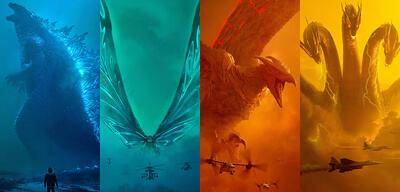 Godzilla, Mothra, Rodan und Ghidorah